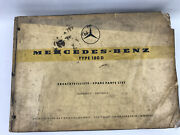 Mercedes-benz Type 180d Parts Catalog Manual With Supplement 1957-59 Rare Find