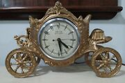 Vintage United Self Starting Coach/carriage Electric Mantle/desk Clock