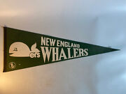 """Vintagenew England Whalers Wha 30"""" Pennant Green"""