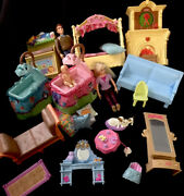 Fisher Price Loving Family Doll House Furniture Bedroom Nursery Living Rm People