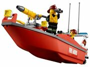 Lego City Series 60005 Patrol The Lego City Harbor In The Sleek Fire Boat