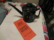 Vintage Eagle Railroad Oilerfuel Can W/ Spoutchain And Penn Cental Safety Book