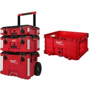 Modular Tool Box Storage System With Crate 9 Inch Wheels Portable Chest Cart Set