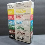 Riso Hi-mesh Ink For Paper 7 Traditional Colors 40cc Print Gocco New Sealed