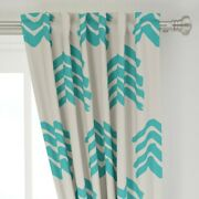 Boho Mountain Boy Nursery Abstract Mountains 50 Wide Curtain Panel By Roostery