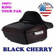 Black Cherry King Tour Pack Pak For 1997-2021 Harley Street Road Electra Ultra