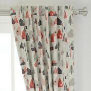 Houses Mountain Scandinavian Trees Modern 50 Wide Curtain Panel By Roostery