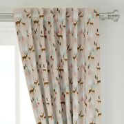 Deer Mountain Pink And Mint Trees Nursery 50 Wide Curtain Panel By Roostery