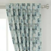Arctic Animals Blue White Polar Bear Birds 50 Wide Curtain Panel By Roostery