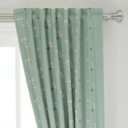 Mid Century Mod Lava Lamps Stripes Mint 50 Wide Curtain Panel By Roostery