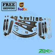 Radius Arm Suspension Lift Kit Zone 6 Front And Rear For Ford F350 4wd 2011-2016