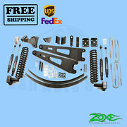 Radius Arm Suspension Lift Kit Zone 6 Front And Rear For Ford F350 4wd 2008-10