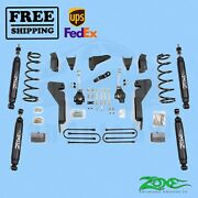 Suspension Lift Kit Zone 6 Front And Rear Fits Dodge Ram 2500 4wd 2008