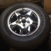 1998-2001 Mercedes Benz Ml320 16 Chrome Factory Oem Wheels And Tire-set