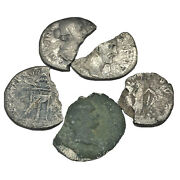Authentic Ancient Roman Silver Coin Fragments With Some Detail - Rare Artifacts