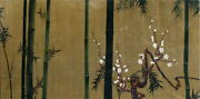 Lacquer Painting Masterpieces By Korin Ogata Bamboo Plum Diagram