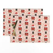 Cloth Placemats Nutcracker // Pink And Red Nutcrackers Holiday Xmas Set Of 2
