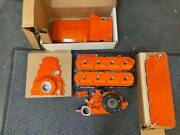 Holley Powdercoated Valve Covers Ls3 Ls7 Timing Cover Oil Pan Chevy Orange