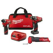 Brushless Cordless Hammer Drill/impact Driver Combo Kit And Oscillating Multi-tool