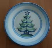 M.a. Hadley Pottery 7.5 Salad Plate - Christmas Tree - Excellent