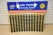 Usa Trains R81500 X 12 5ft. Dia. Curved Brass Track G-scale