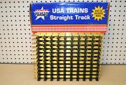 Usa Trains R81000 X 12 1ft. Straight Brass Track G-scale