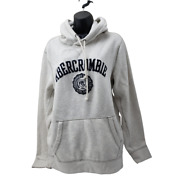 Abercrombie And Fitch Sweatshirt Unisex Size Large Grey Hoodie Monogrammed