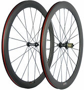 700c 50mm Front+rear Carbon Wheels Road Bike Clincher Bicycle Wheelset 23mm Wide