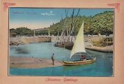Egypt Rare Christmas Greeting Post Card - Ismailia - The Canal