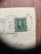 Used Benjamin Franklin 1 Cent Green Postage Stamp On Photo Postcard - New Jersey