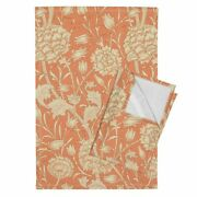 English Arts And Crafts Style Linen Cotton Tea Towels By Roostery Set Of 2
