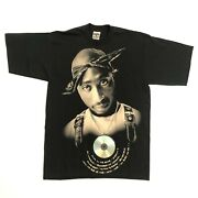 Tupac Discography Shirt W/ Cd Sealed On Front Mob Tag Made In Usa Mens Xl Tall