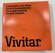 New Vivitar Collapsible Lens Hood 62mm Made In Japan New Old Stock