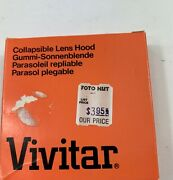 New Vivitar Collapsible Lens Hood 55mm Made In Japan New Old Stock