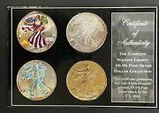 2005 The Complete 4 Coin 1ozt. Silver American Eagle Set In Display Case, 4ozt.