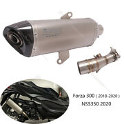 For Honda Forza 300 Nss350 Exhaust Pipe Motorcycle Middle 51mm Muffler Db Killer