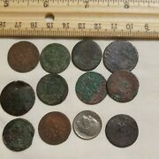 1600s French Colonial Buried Treasure Copper Coins 11pcs Wholesale Lot