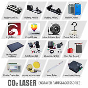 Co2 Laser Engraver Accessories - Water Chiller Rotary Axis Mirrors And Focus Lens