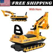 Ride On Excavator Toy Tractors Digger Movable Pretend Play Truck Scooter Walker