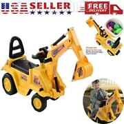 Kid Ride On Excavator Toy Tractors Digger Movable Scooter Walker Pretend Play Us