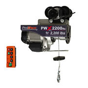 Prowinch 1 Ton Electric Wire Rope Hoist With Electric Trolley 2000 Lb Load Capac