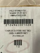 30 Pack Of New Filidoro Round Tablecloth 102 Round - Made In Italy