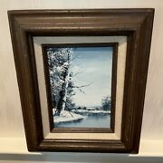 Winter Scene Oil Painting By Russell