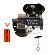 Prowinch 1/2 Ton Electric Wire Rope Hoist 1100 Lb Load Capacity With Wireless Re