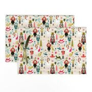 Cloth Placemats Christmas Ballet Nutcracker Vintage Holiday Set Of 2