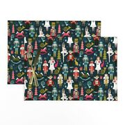 Cloth Placemats Christmas Nutcracker Holiday Xmas Small Scale Set Of 2