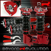 For 89-94 240sx S13 Racing Suspension Coilovers Pillowball Damper Kit Set Red