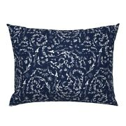 Navy Seaweed Modern Nautical Fabrics Pirate Shell Anchor Pillow Sham By Roostery