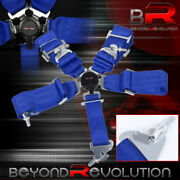 3 Blue Nylon 5 Point Racing Seat Belt Cam Lock Safety Latch Snap On Off Quick