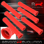 Universal 6x Heat Spark Plug Wire Tube Insulator Thermal Wrap Drifting Red